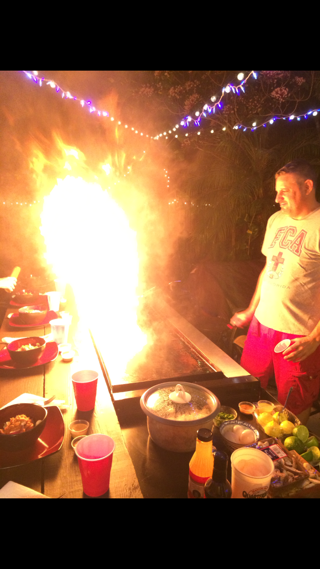 Benihana in the back Yard